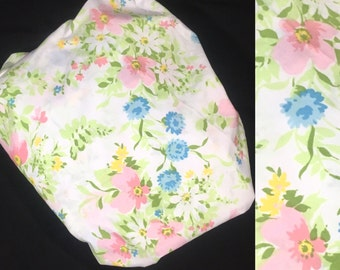 Full/Double Size | Fitted Sheet | JCPenney | Pink & Blue Floral