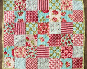 "Handmade Baby Quilt - Marmalade by Bonnie & Camille for Moda - 25 1/2"" x 30 1/2"""