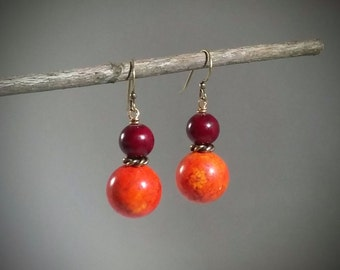 Ichor: Turquoise and quartzite bead earrings