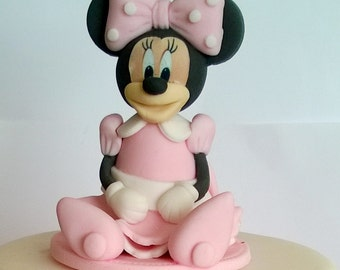 mini mouse cake toppers girl edible personalised decoration