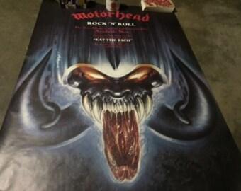 Motorhead - Rare Subway Size Poster - Rare! - Vintage Motorhead Poster - Lemmy