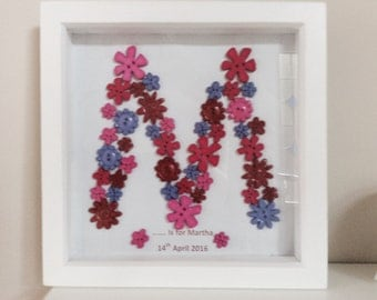 Personalised button art - new baby / wedding/ teacher/ christening / other