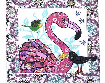 Pink Flamingo Serviettes (in sets of 2)  Cotton Printed napkin - Perfect for a party. Home ware for your table top and great to gift.