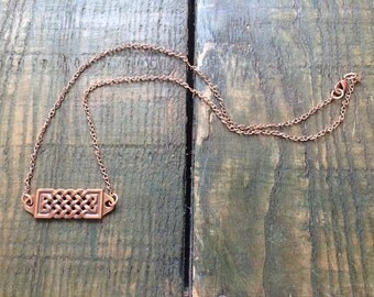 Copper Bar Necklace 18 inch