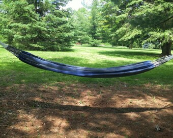 Dark blue hammock - double size