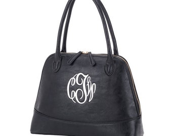 Black Monogrammable Handbag