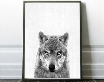 Wolf Print, Black and White Art, Art Poster, Instant Download Photography, Wolf Decor Print, Woodland Art Print, Rustic Art Prints, Wolf Art