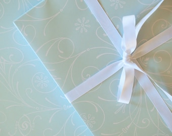 Wrapping Paper Sweet Mint // Wrapping Paper, Birthday, Wedding, Engagement, Baby Shower, Baby, All Occasion, Ornament, Flower
