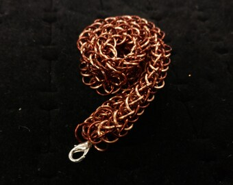 Brown & copper chainmaille bracelet