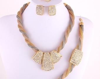 Elegant Evening Necklace Set