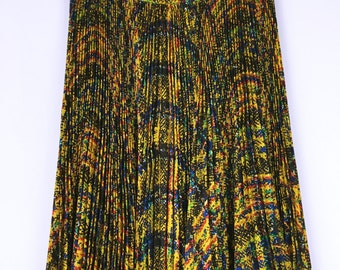 Christian Dior 80's vintage multi colors pleated skirt