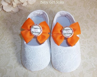 Pumpkin First Birthday Outfit - Pumpkin Outfit - Pumpkin Birthday - Pumpkin 1st Birthday Shoes - Pumpkin First Birthday - Pumpkin Shoes