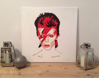 Ziggy Stardust Original Hand Painted Portrait