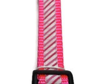 Medium Pink Striped Dog Collar