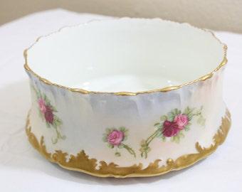 Vintage Limoges Dish/ Gold Trim/ Roses