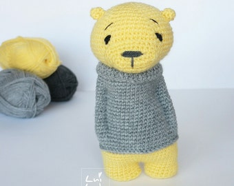 Amigurumi crochet pattern * Cool Luipold * teddy bear PDF languages: english and german