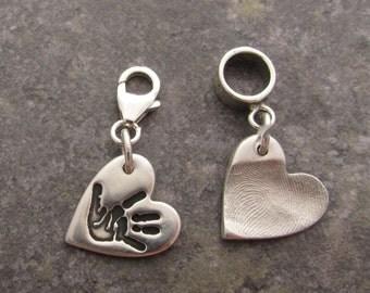 Fingerprint, Handprint or Footprint Dinky Charms