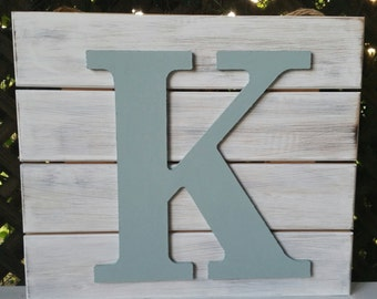 Initial Wooden Sign