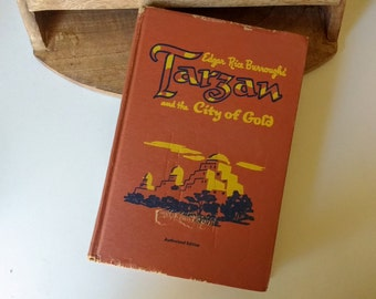 "Vintage  Tarzan,  Edgar Rice Burrough's   "" Tarzan and the City of Gold"""