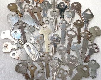 SALE******44 Vintage Keys Safe Keys Lock Box Keys Padlock Keys Suitcase Keys Room Keys Door Keys Mixed Media Altered Art Mixed Key Lot