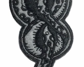 """Harry Potter Death Eater Dark Mark 3 3/4"""" Embroidered Iron On Patch"""