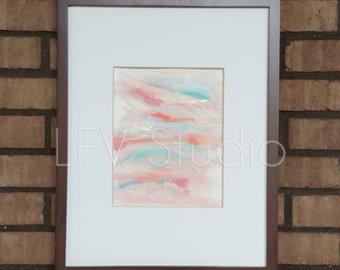 Original Abstract Watercolor & Acrylic Painting Multi-color Series #005 - LFV Studio