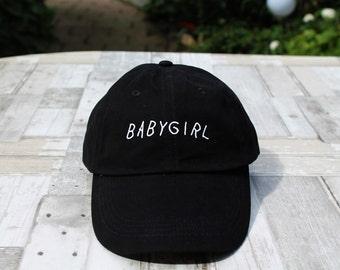 Black babygirl baseball hat