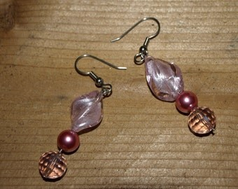 Pink with a Twist Earrings