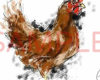 Chicken - A4 print