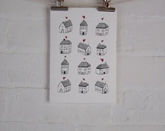 Home Sweet Home - Giclee Fine Art Print
