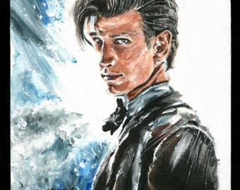 Doctor Who 11th Doctor Matt Smith acrylic portrait