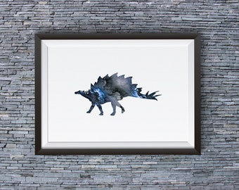 Dinosaur Art Print - Cool Poster - Abstract Art Illustration - Wall Art - Home Decor