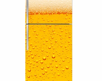 Beer Bubbles Fridge Magnet cover 36x65 in.