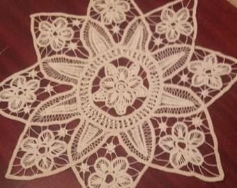 Star crochet doily, lace doily