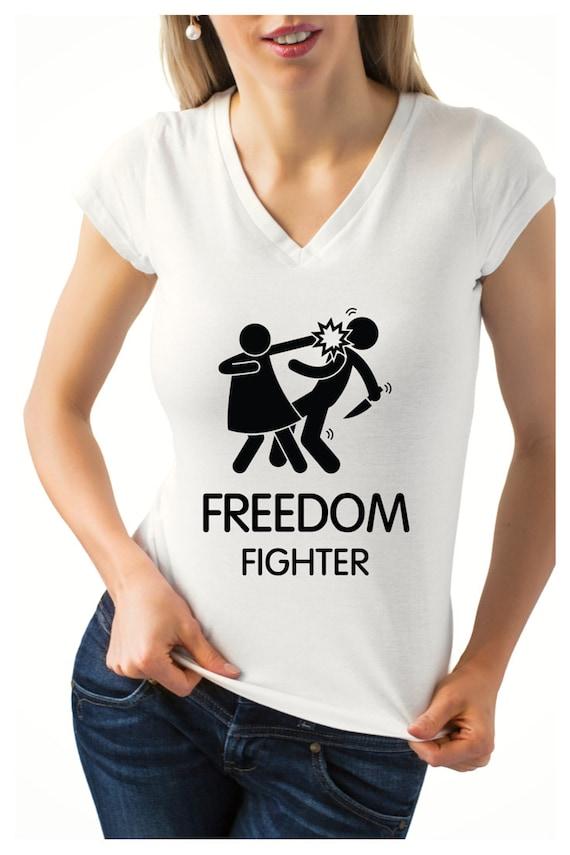Freedom fighter Slap/Woman's T-shirt/ American by TNTShirtShop