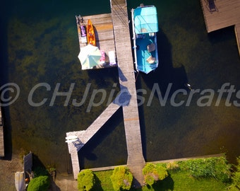 Summit Lake-Olympia-Washington 2016 Boat Dock-Drone Picture