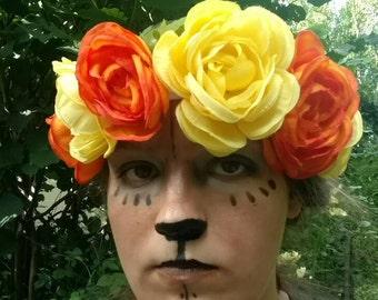 Thick band flower headbands