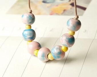 Mud-Q handmade Ceramics Marbles Beaded Necklaces