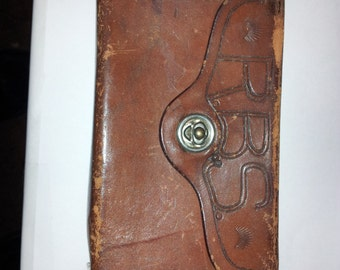 Vintage GEO Lawrence co leather ammo pouch late40s50s