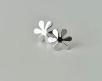 flower steling sliver earrings