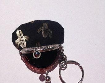Coin purse Keychain mini cactus gold