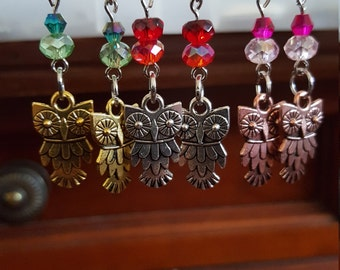 Hanging Owl Earrings