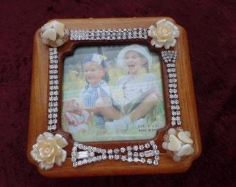 Embellished photo frame jewelry box