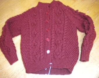 Toddler aran knit cardigan