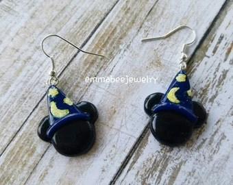 Magician Mickey Mouse Earrings