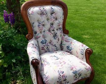 Victorian Mahogany Grandfather chair
