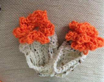 Baby flower flip flops