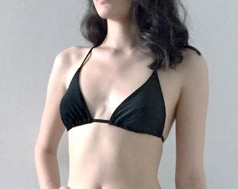 Medium TOP- The Waverly String Bikini Black M