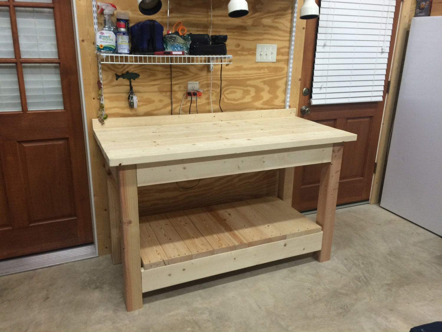Work bench kitchen island outdoor table for Kitchen island bench