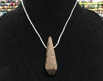 Black Walnut Pendant Necklace